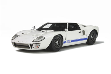 GT Spirit 1/18 FORD GT40 MKI White GT131