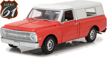 Highway 61 1/18 1970 Chevrolet C-10 Pickup with Camper Shell HWY-18004