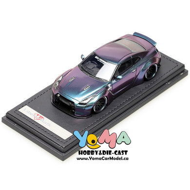 Ignition Peako 1/43 Nissan LB-WORKS GT-R R35 Metallic Purple/Green Resin Model Car IG1192