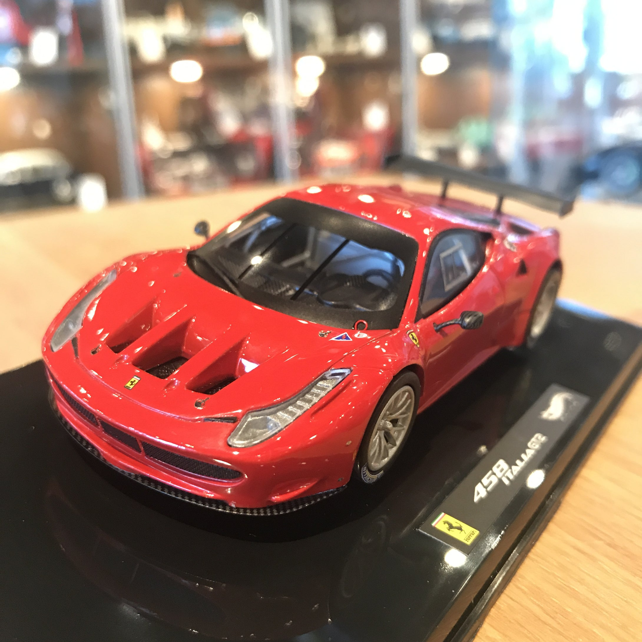 HotWheels 1/43 Elite Ferrari 458 GT2 Plain Body Launch Version X2861