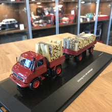 Schuco 1/43 Unimog U411 With Trailer And Wood 450312900