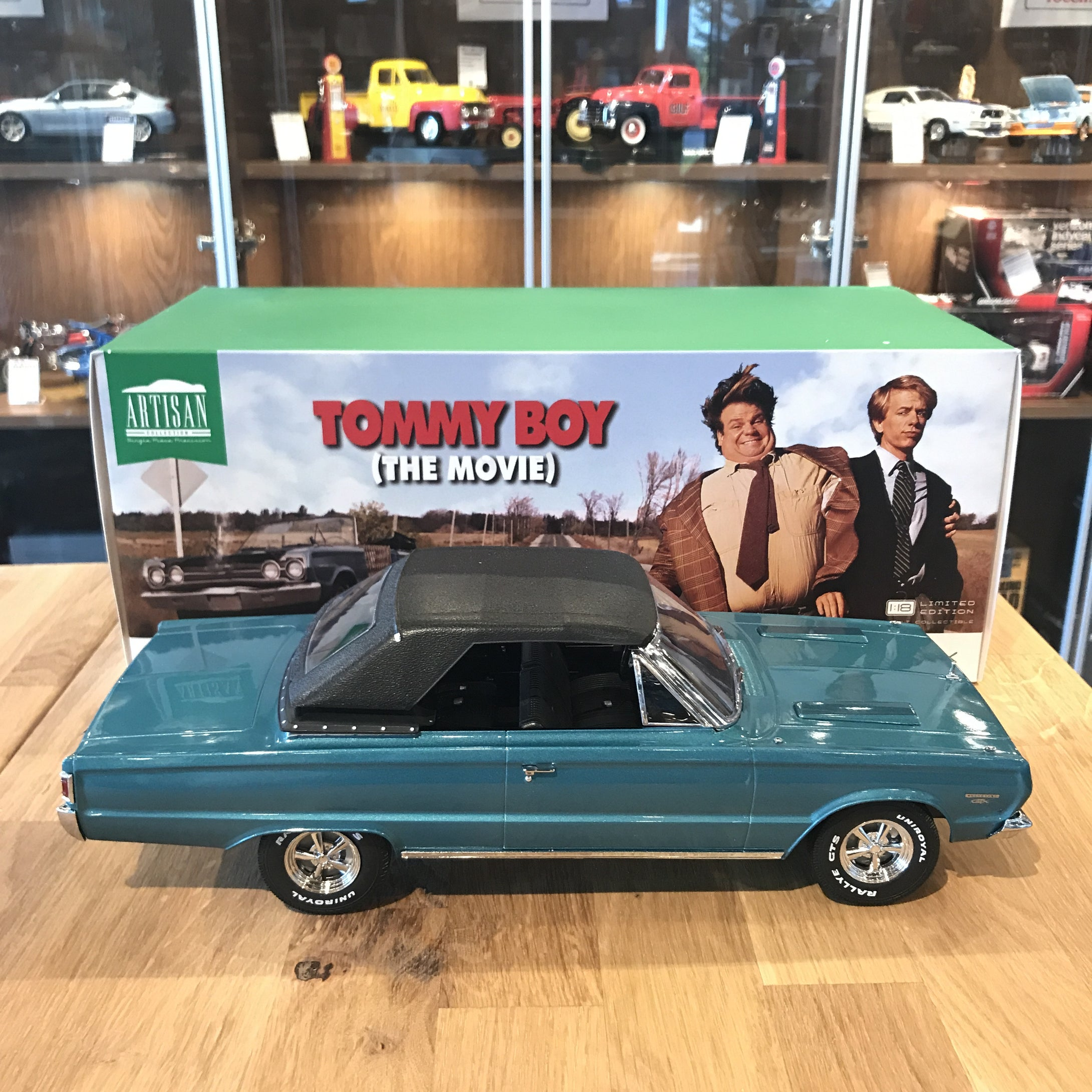 Plymouth Belvedere GTX Convertible 1967 Tommy Boy Modellauto 1:18 Greenlight