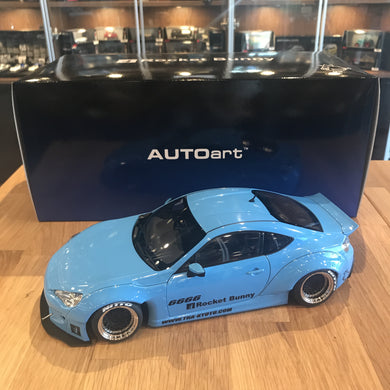 AUTOART 1/18 ROCKET BUNNY TOYOTA 86 (METALLIC SKY BLUE/BLACK WHEELS) 78758