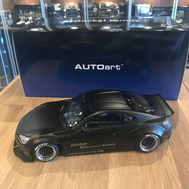 AUTOART 1/18 ROCKET BUNNY TOYOTA 86 (MATT BLACK/BLACK WHEELS) 78755