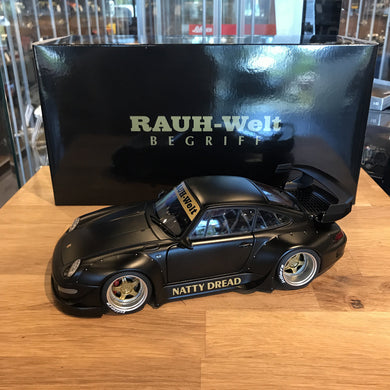 AUTOART 1/18 RWB 993 (MATT BLACK/GOLD WHEELS) 78154