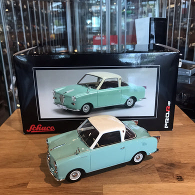 Schuco 1/18 Goggomobil Coupe TS250 Turquoise 450008300