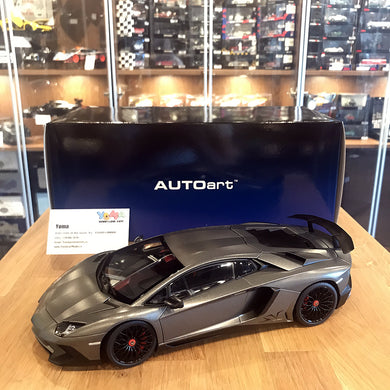 AUTOart 1/18 LAMBORGHINI AVENTADOR LP750-4 SV MATT GREY Diecast Model Car 74554