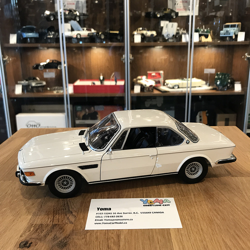 Minichamps 1/18 1972 BMW 3.0 CSI E9 Coupe White L.E.504 pcs. 180029026