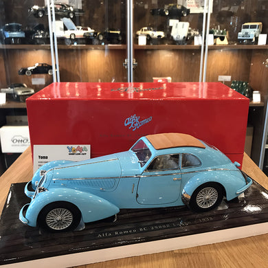 MINICHAMPS 1/18 ALFA ROMEO 8C 2900 B LUNGO 1938 LIGHT BLUE 100120420
