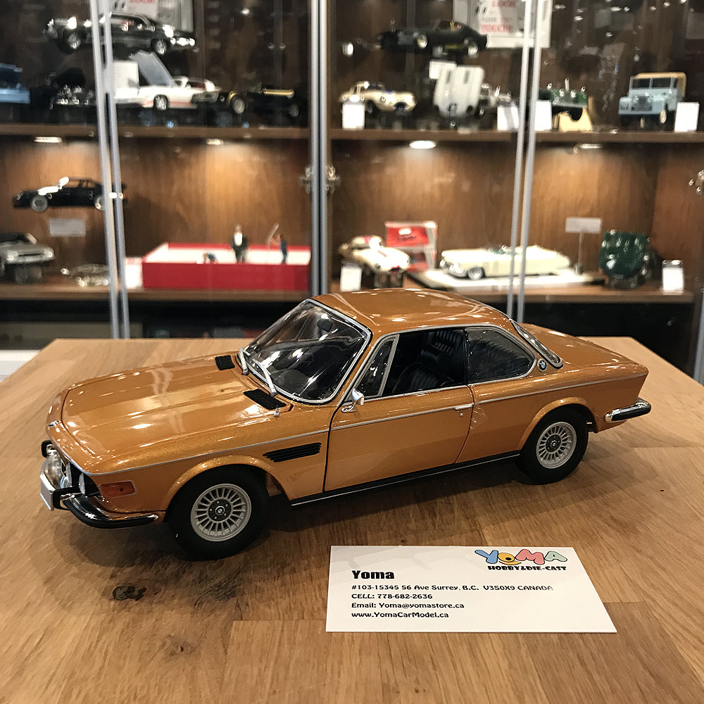 minichamps 1 18 bmw 3 0 csi e9 coup 1972 gold metallic. Black Bedroom Furniture Sets. Home Design Ideas