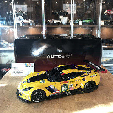 AUTOART 1/18 CHEVROLET CORVETTE C7.R LE MANS 24 HRS 2016 #64 YELLOW 81604