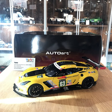 AUTOART 1/18 CHEVROLET CORVETTE C7.R LE MANS 24 HRS 2016 #63 YELLOW 81605