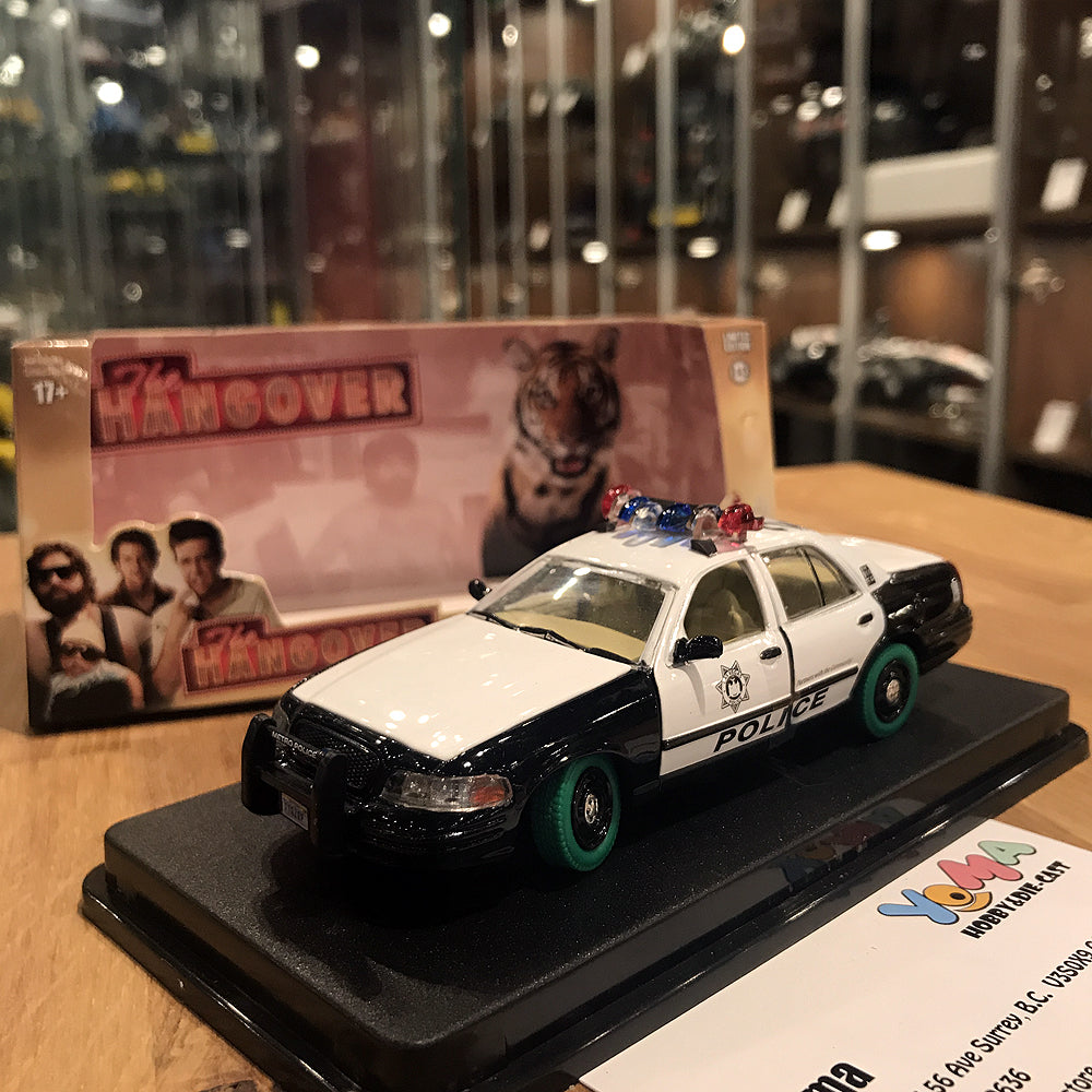 GreenLight 1/43 The Hangover (2009) - 2000 Ford Crown Victoria Police Interceptor Green Machine Chase 86506