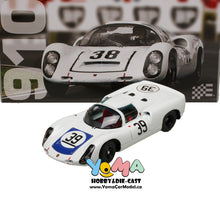 EXOTO 1/18 1967 Porsche 910 #39 Le Mans 24 Hours Udo Schutz, Joe Buzzetta Blue cover Diecast Model Car MTB00062D