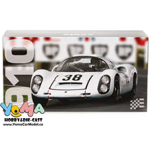 EXOTO 1/18 1967 Porsche 910 #39 Le Mans 24 Hours Udo Schutz, Joe Buzzetta Black cover Diecast Model Car MTB00062D