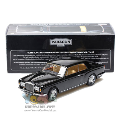 Paragon 1/18 Rolls Royce Silver Shadow MPW 2-Doors Coupe Black LHD PA-98202L