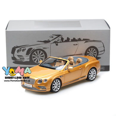 Paragon 1/18 2016 Bentley Continental GT Convertible LHD Gold PA-98232L