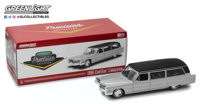 GreenLight 1/18 Precision Collection 1966 Cadillac S&S Limousine - Silver & Black PC-18005