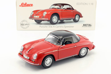 Schuco 1/18 Porsche 356 A Carrera Speedster Edition 70 Jahre Porsche red black 450031300