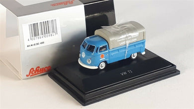 Schuco 1/87 Volkswagen T1c pick-up with tarpaulin Lanz blue 452634000