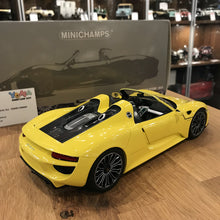 MINICHAMPS 1/18 PORSCHE 918 SPYDER 2013 YELLOW 110062434