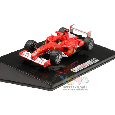 Hot Wheels Elite 1/43 Ferrari F2002 #1 Formula 1 GP France 2002 Michael Schumacher X5513
