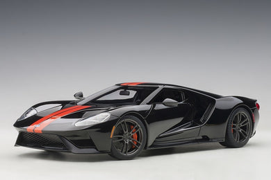 AUTOART 1/18 FORD GT 2017 (SHADOW BLACK/ORANGE STRIPES) 72945