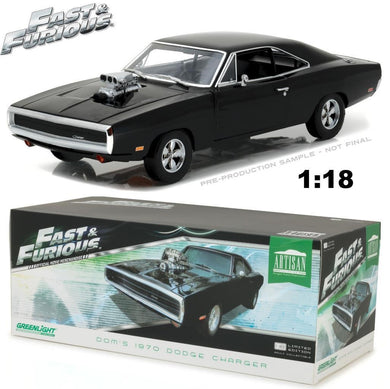 GreenLight 1/18 Fast & Furious 1970 Dodge Charger Black 19027
