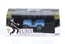 GreenLight 1/43 Elvis Presley (1935-77) 1963 Jeep CJ-5 Sierra Blue Green Machine Chase Diecast Model Car 86310