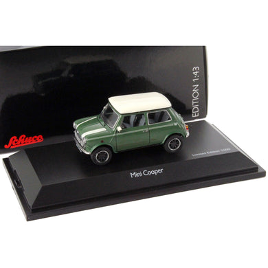 Schuco 1/43 Morris Mini Cooper Almond Green 450251700