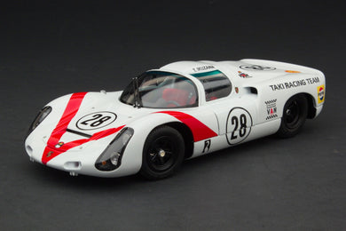 EXOTO 1/18 1968 Porsche 910 #28 Second Grand Prix of Japan Tetsu Ikuzawa Diecast Model Car MTB00064B
