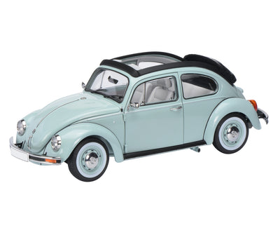 Schuco 1/18 Volkswagen Kafer Bettle 1600I folding roof aquarius blue 450029300