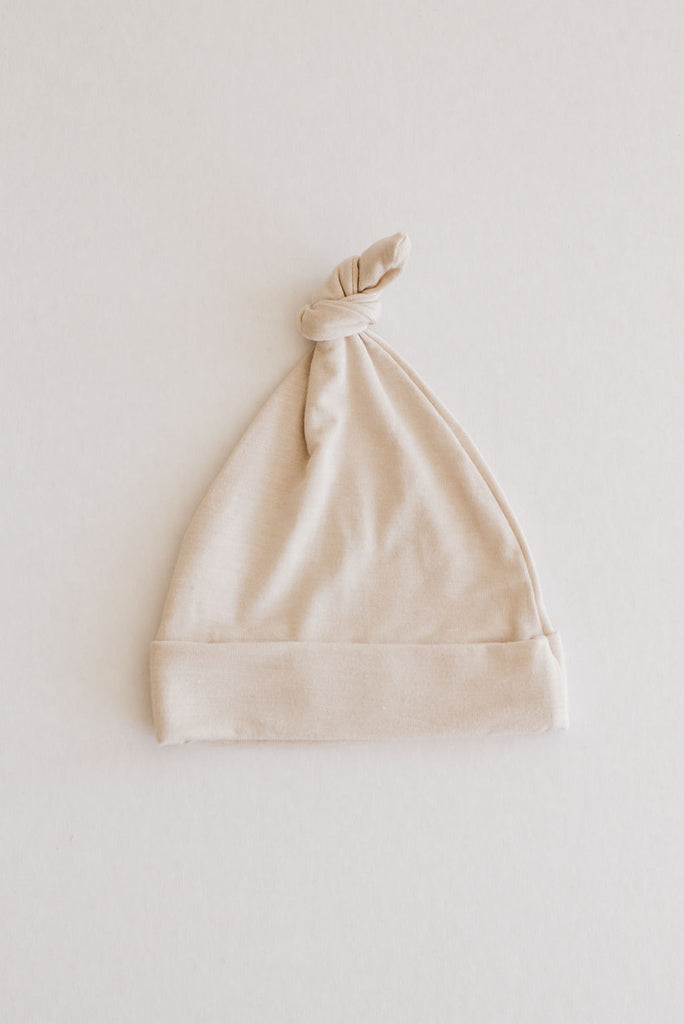 Knotted Beanie - Natural