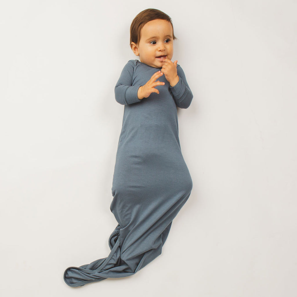 Knotted Gown - Blue