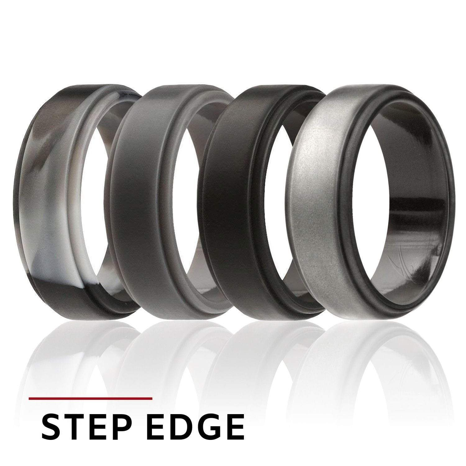 Men S Silicone Wedding Band.Roq Silicone Rings Shop Affordable Rubber Silicone Wedding Bands