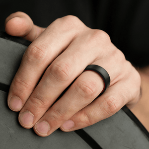 3 Pack - Silicone Ring For Men-  Breathable Comfort Fit Duo Beveled Design