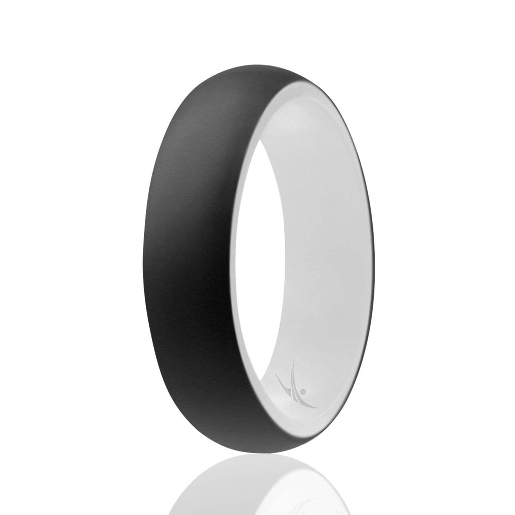 ROQ Duo Collection Dome Style 5.5mm Wide 4 Silicone Ring for Women - Duo Collection Dome Style