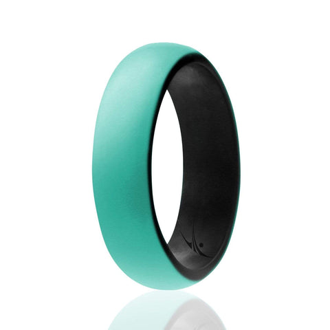 Image of ROQ Duo Collection Dome Style 5.5mm Wide Silicone Ring for Women - Duo Collection Dome Style