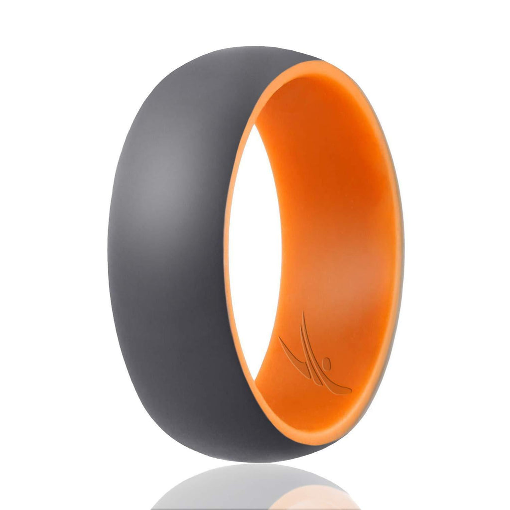 ROQ Duo Collection Dome Style 9mm Wide 7 Silicone Ring for Men - Duo Collection Dome Style