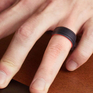 Silicone Ring for Men - Duo Collection 2 Thin Lines