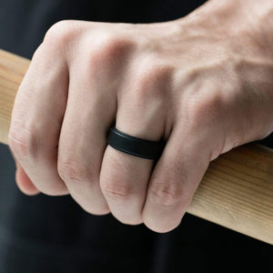 Silicone Ring For Men-  Breathable Comfort Fit Step Edge