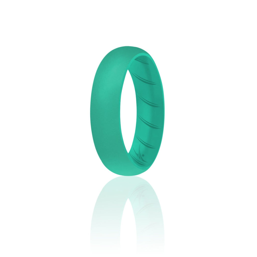 ROQ Single Ring- ROQ Silicone Women wedding band - breathable 4 Silicone Ring For Women-  Breathable Comfort Fit