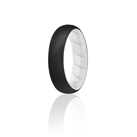 Image of ROQ Single Ring- ROQ Silicone Women wedding band - breathable 4 Silicone Ring For Women-  Breathable Comfort Fit Duo Design