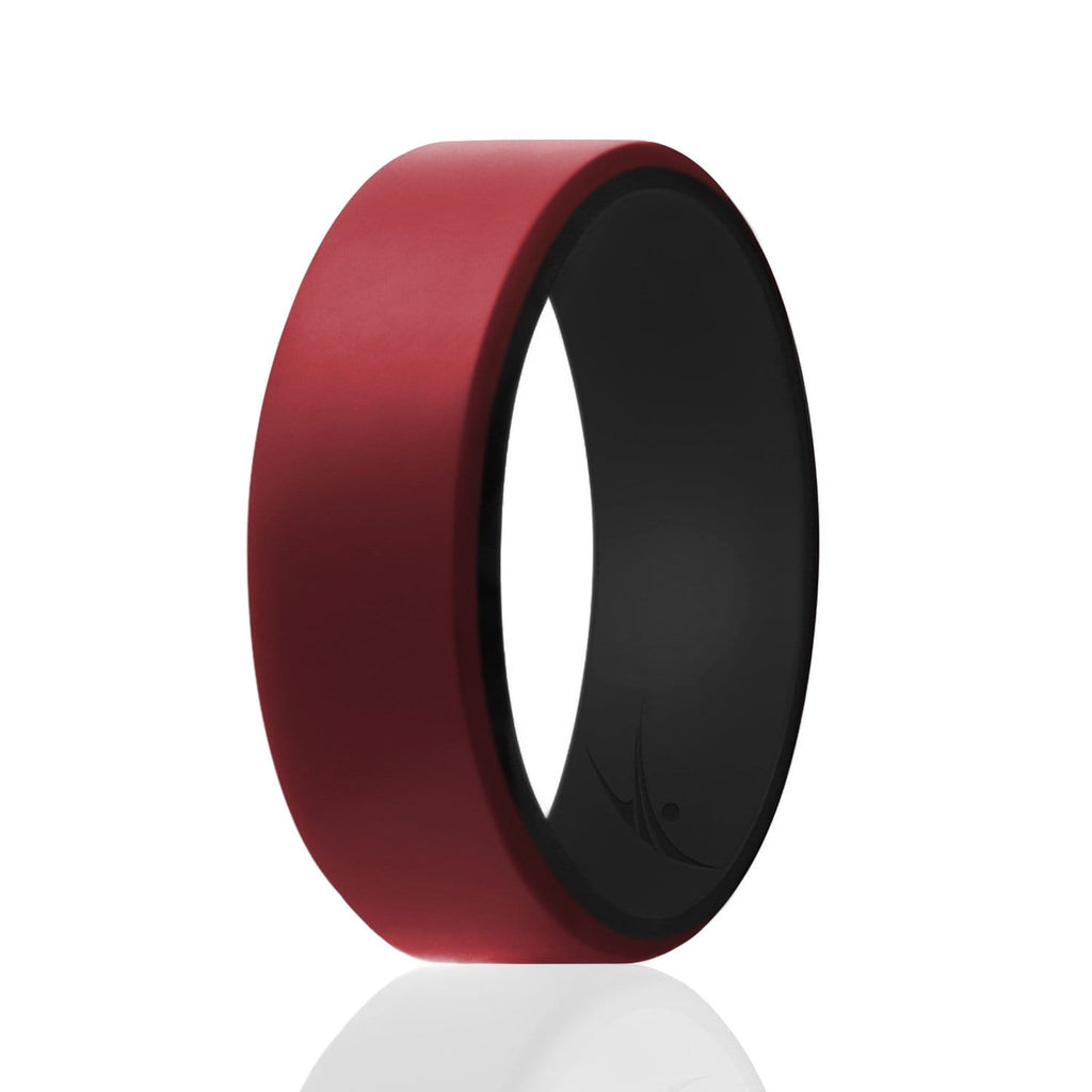 ROQ Step Edge Duo Collection 8mm Wide 7 Silicone Ring for Men - Beveled Duo Collection