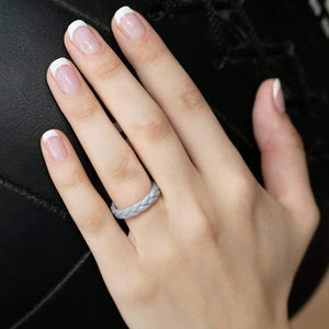Rings for Women - Thin Stackable - Leaves Style