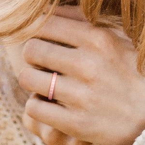 Silicone Ring for Women - Thin Stackable - Horizontal Lines