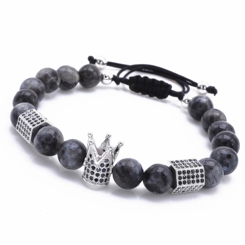 Silver Crown Stone Bracelet - Fleek365