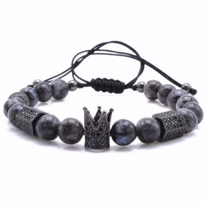 Black Stone Crown Bracelet - Fleek365