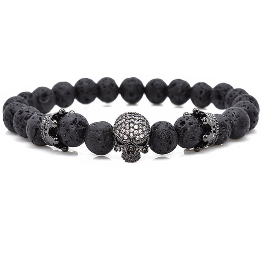 Lux Skull Crown Stone Bracelet - Fleek365