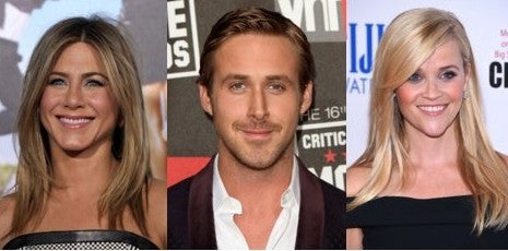 Jennifer Aniston, Ryan Gosling, Reese Witherspoon chin